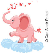 Pink clipart baby elephant Baby  with Art Graphics