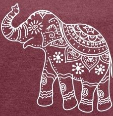 Cliparts indian Elephant outline Henna