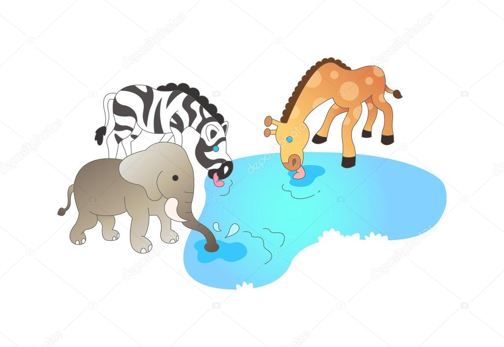 Animal clipart drink water Drink #45597871 water Animals Stock
