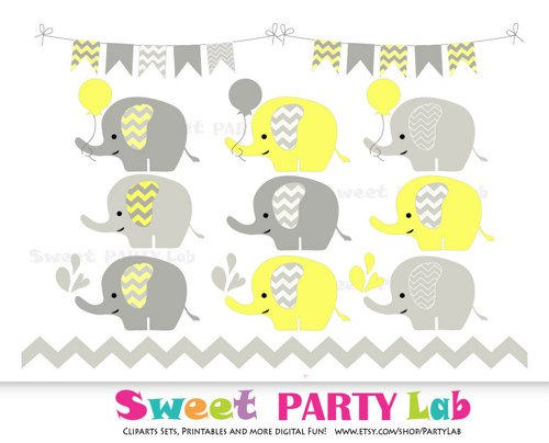 Yellow clipart baby elephant Clipart Elephant And Clipart Kid