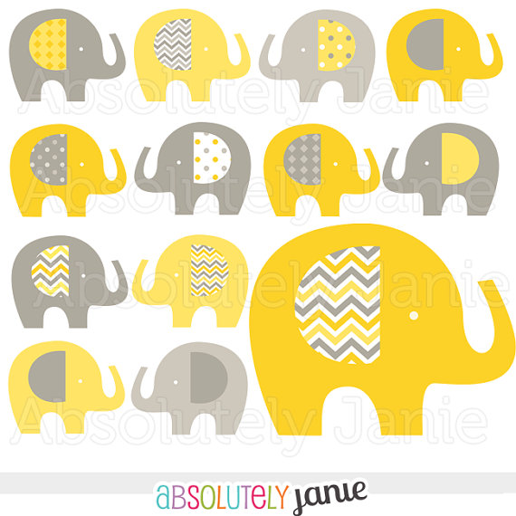 Yellow clipart baby elephant  Baby Baby Yellow Commercial