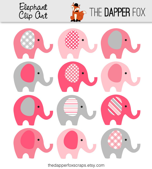 Pink clipart baby elephant  Elephant Yellow Art Grey