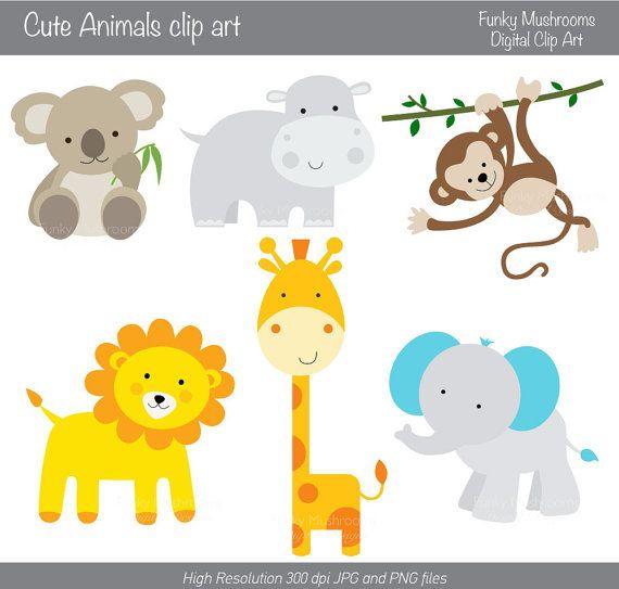 Amd clipart giraffe Digital Cute Animals animals on