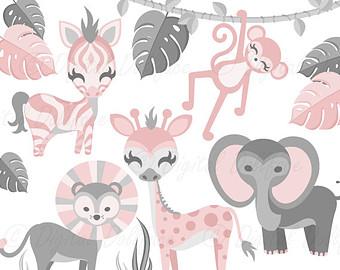 Zoo clipart jungle monkey Baby monkey Animals Shower Safari