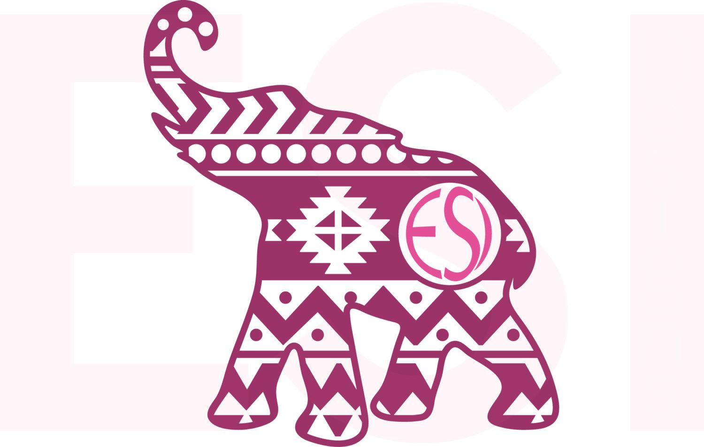 Art Elephant elephant Etsy Aztec