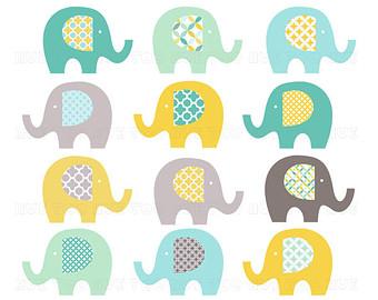 Yellow clipart baby elephant Art art elephant Elephant quatrefoil