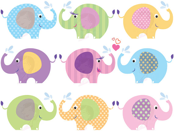 Baby Animal clipart pastel Images Clip Baby Commercial Clipart