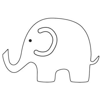 Simple clipart elephant A ear ear minus and