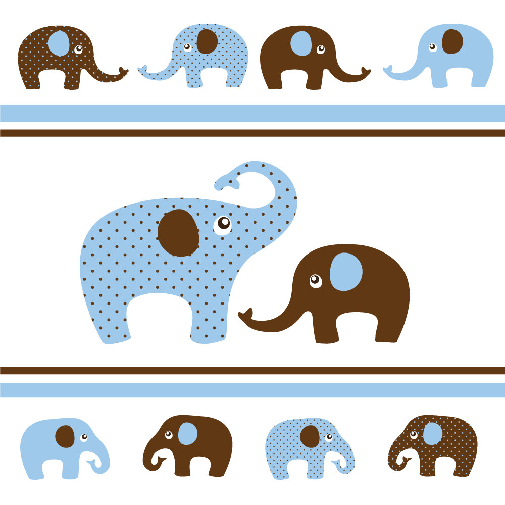 Brown clipart baby elephant Brown Art and Elephants Baby