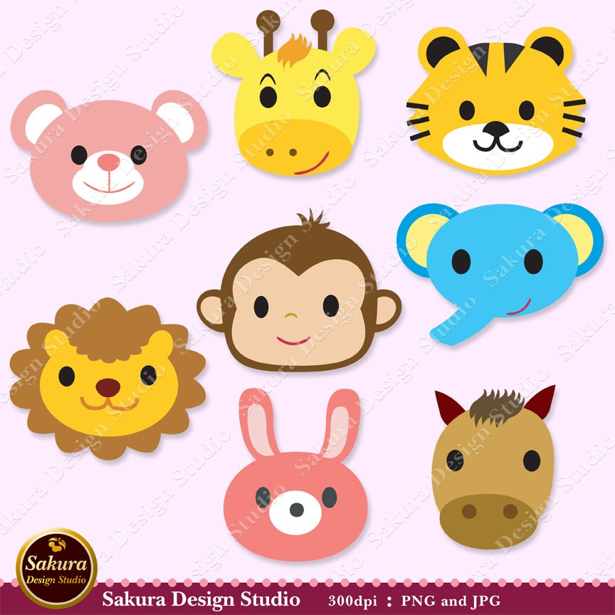 Cards clipart paper Lion Digital Animals Scrapbook