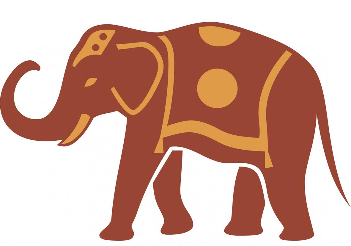 Asian Elephant clipart ornamental Elephant Art Clip brown silhouette
