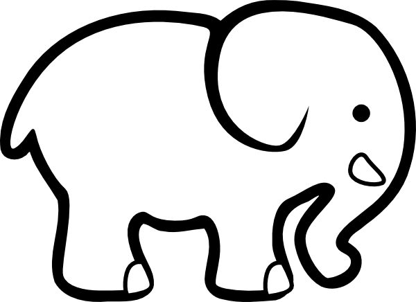 Simple clipart elephant Create This images cut from
