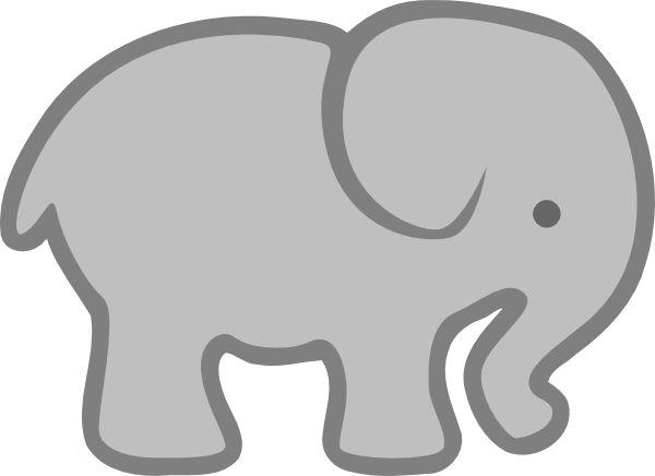 Paw clipart elephant Clip 25+ Art Outline Best