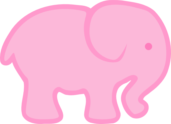 Pink clipart baby elephant Pink Clipart Pink Simple Download