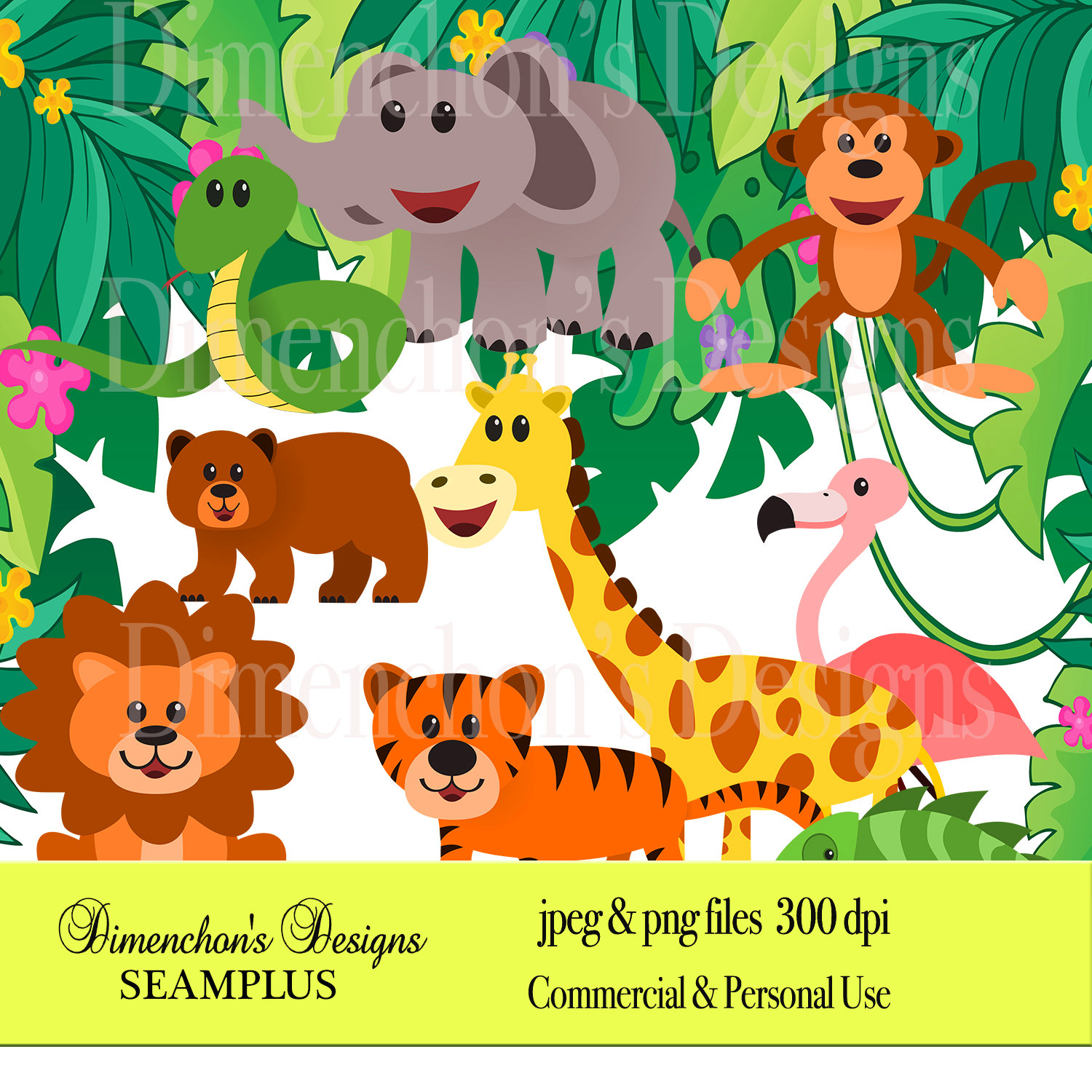 Zoo clipart lion tiger (Clipart: elephant monkey tiger (Clipart: