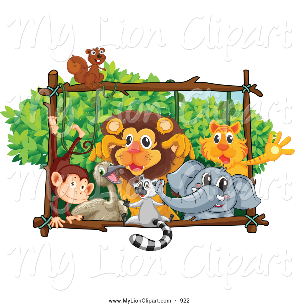 Zoo clipart lion tiger On Designs Royalty Free Monkey