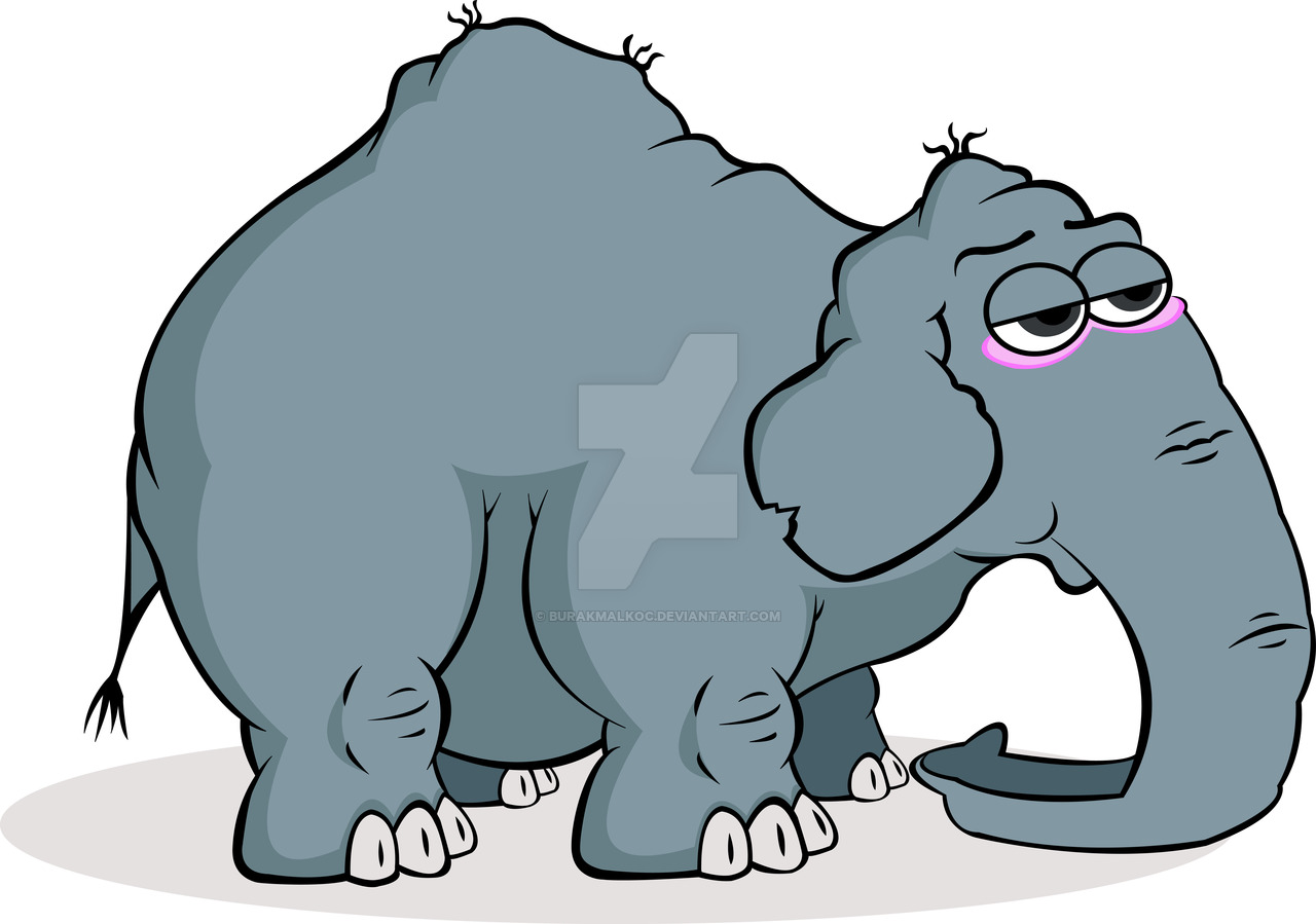 Tired clipart elephant #5