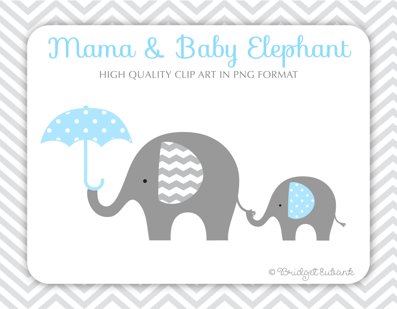 Rican Baby collection Elephant clip