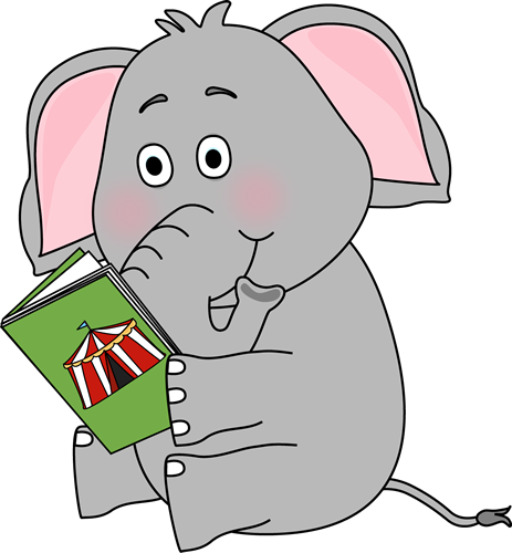 Winter clipart elephant Animal reading Book clipart book