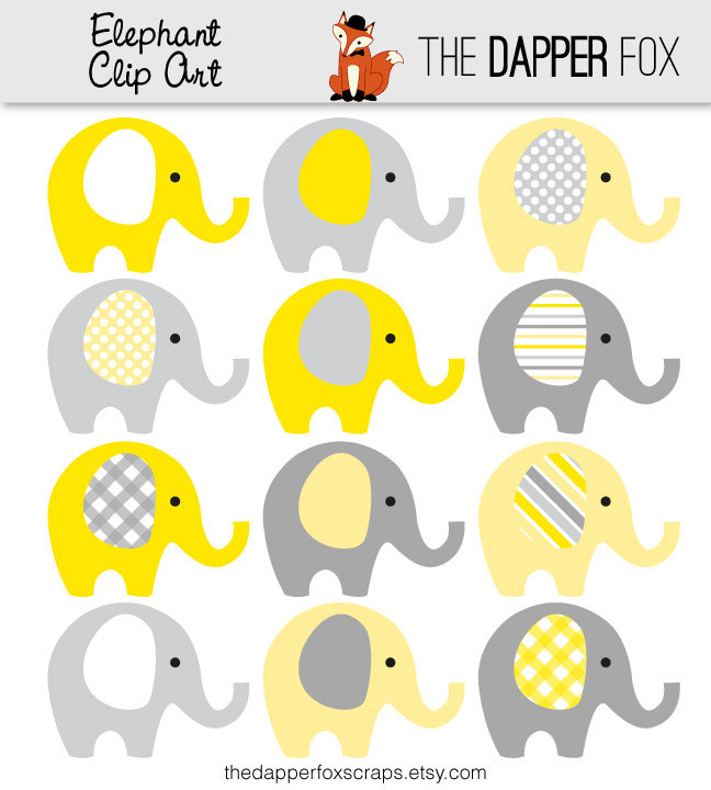 Yellow clipart baby elephant And  Clip DOWNLOAD Elephant