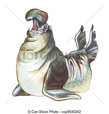 Elephant Seal clipart Elephant Elephant csp5540242 of Hand