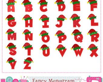 Elf clipart alphabet Elf Elf Letters Elf Birthday
