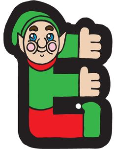 Elf clipart alphabet Brendan by Elf Brendan E