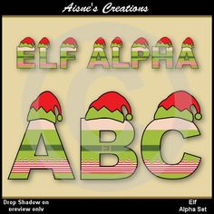 Elf clipart alphabet Clip numbers Matching catalog also