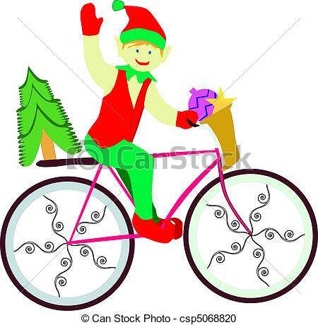Bike clipart christmas Of bike elf on elf