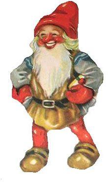 Gnome clipart head Clipart vintage Christmas Santa including