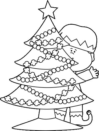 Elf clipart black christmas Elf and Black Christmas White