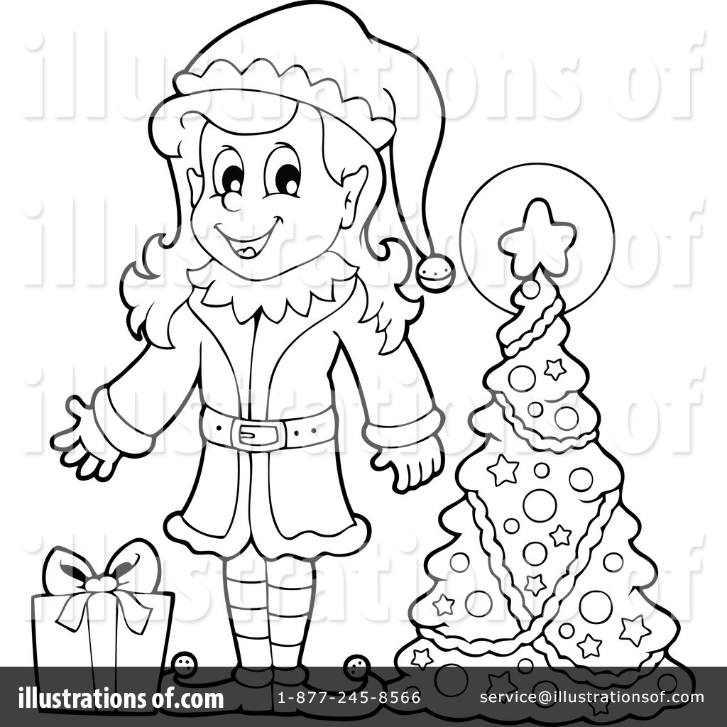 Elf clipart black christmas Illustration Royalty #1154445 by by