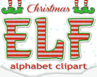Elf clipart boot Punctuation + Alphabet Christmas +