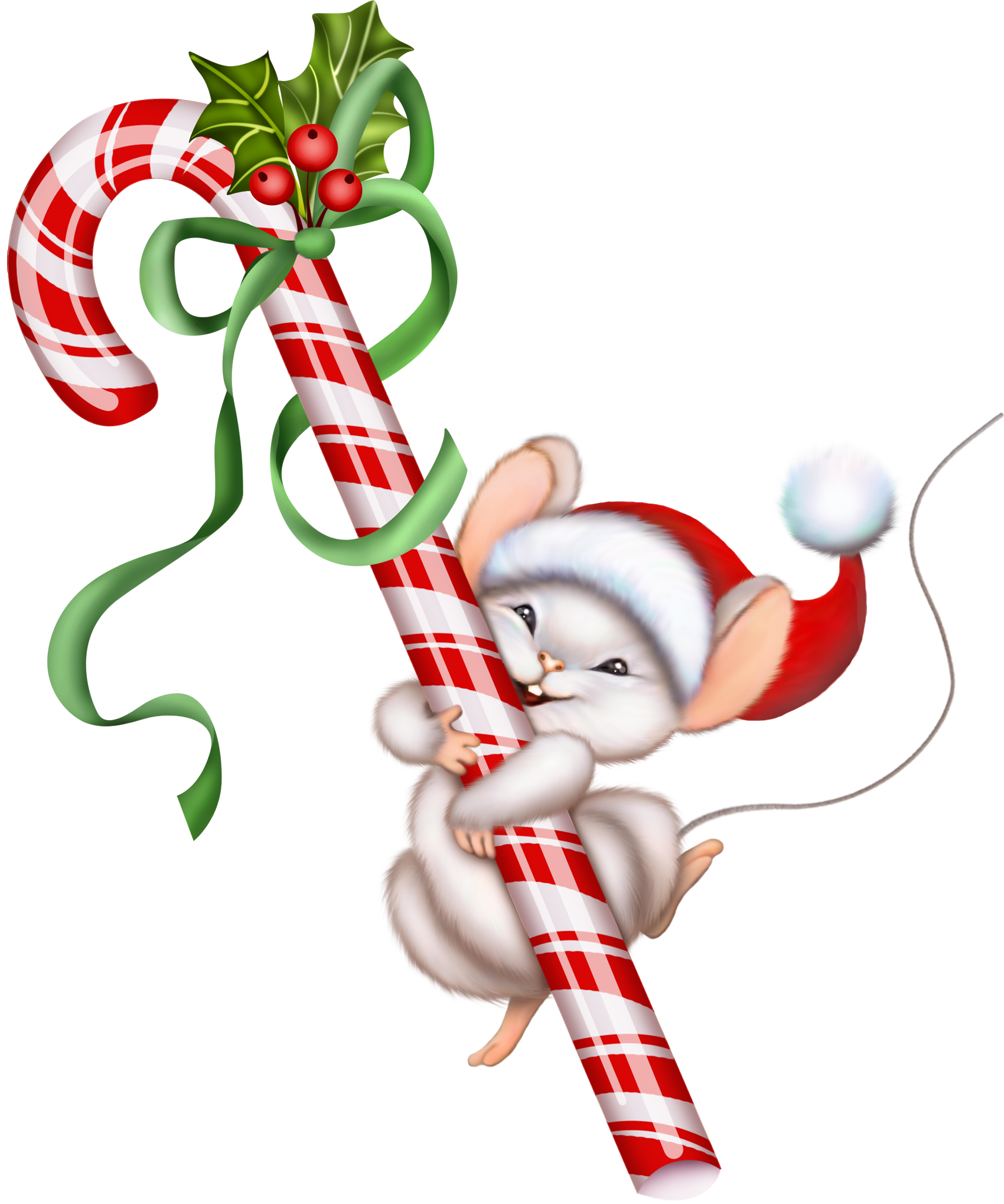 Candy Cane clipart vintage PNG and Candy Mouse Clipart