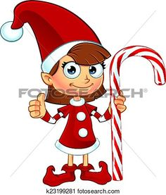 Elf clipart candy cane Holding Art View Candy Red