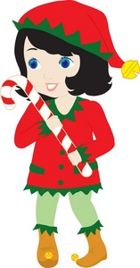 Elf clipart candy cane Christmas With an Clipart Girl