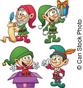 Elf clipart outline Christmas art and elves Cartoon