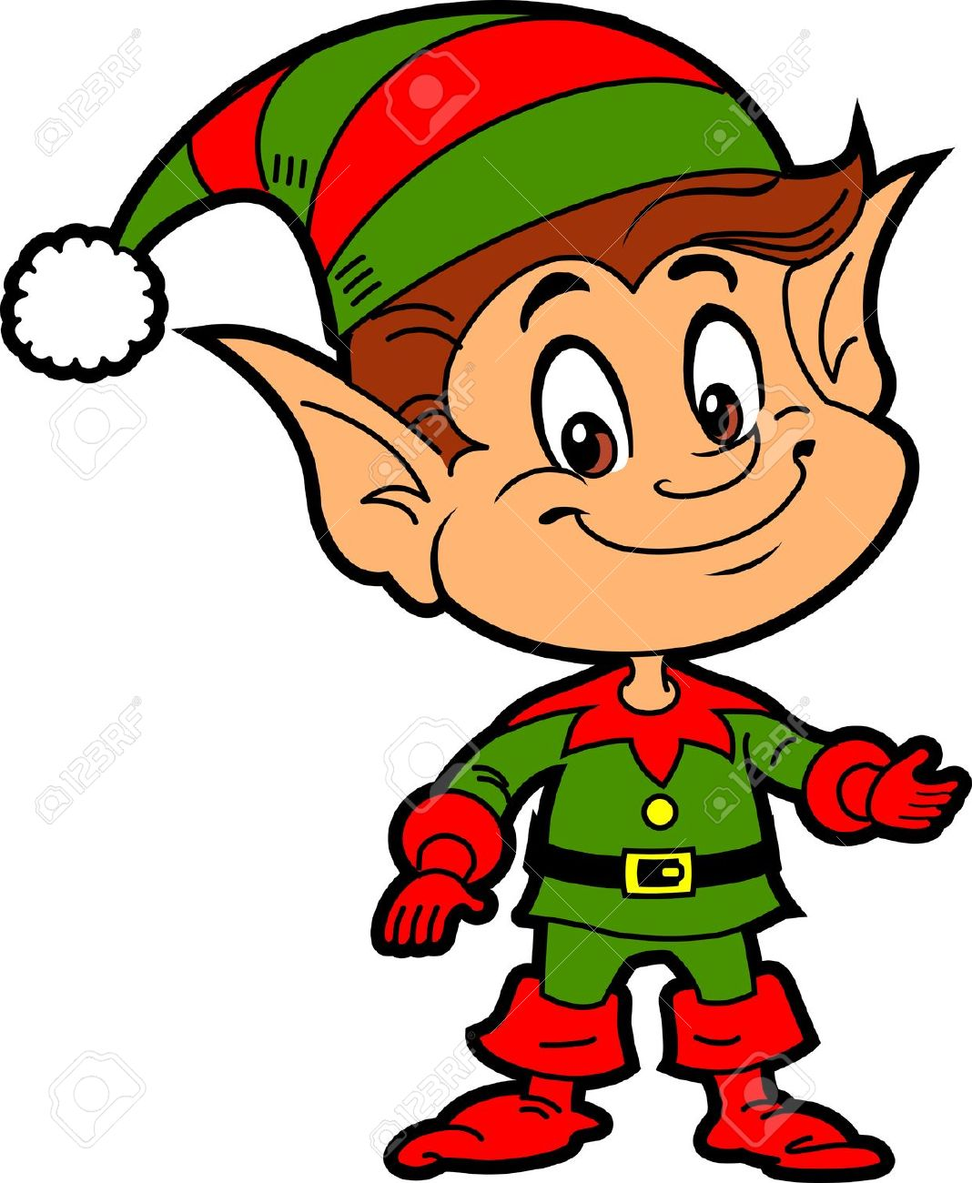 Pointed Ears clipart elven Santa  jpg Happy Stock