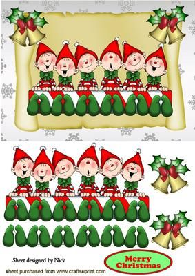 Elf clipart cheeky SCROLL BELLS on on Elf
