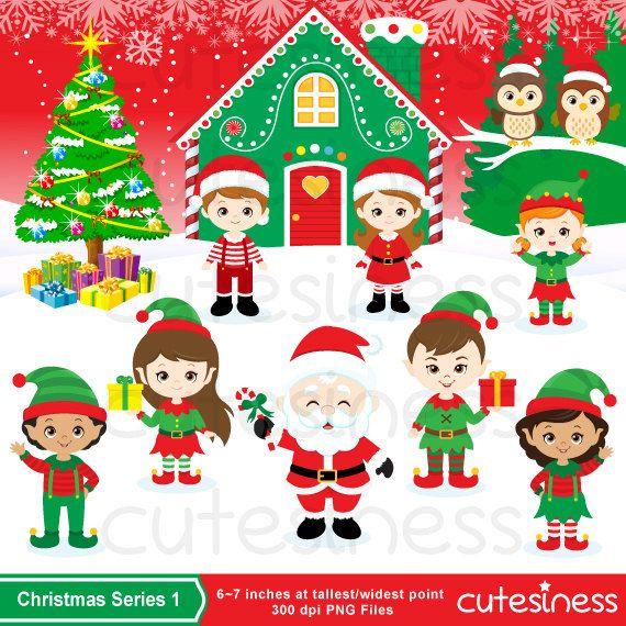Elf clipart cheeky Christmas DUENDES!!! Christmas Clipart Digital