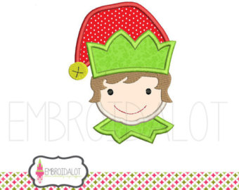 Elf clipart cheeky Elf Cute with design embroidery