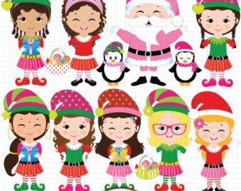 Elf clipart children's Clipart Santa's Christmas elf Elf