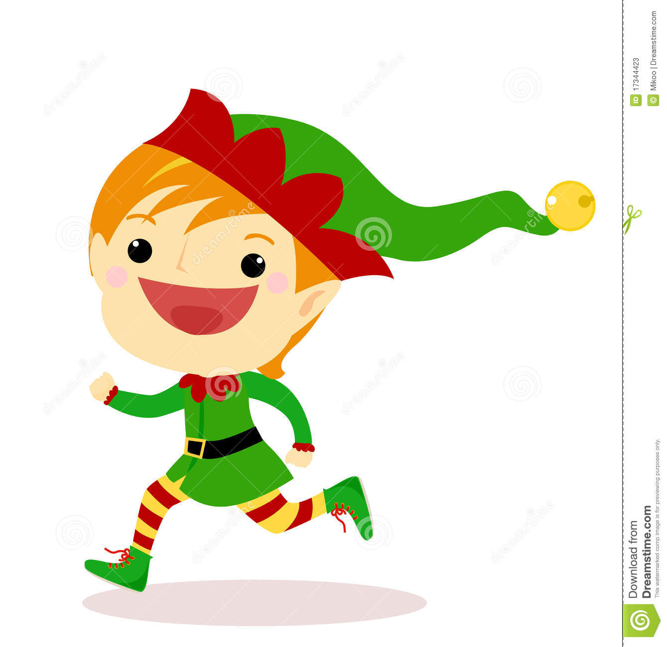 Elf clipart christmas presents Running Elf Clipart Download Running