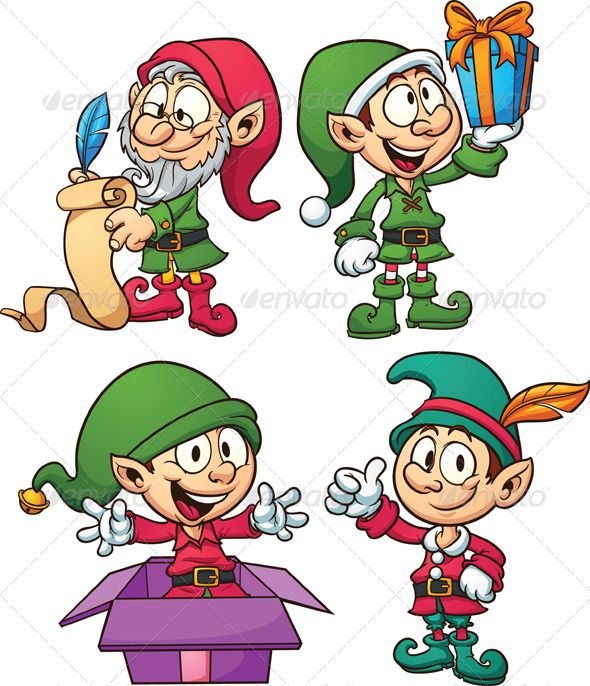 Elf clipart christmas presents Printables on images for Pinterest