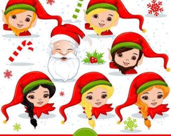 Elf clipart christmas spirit Etsy art – elf Santa