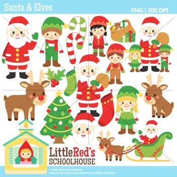 Gingerbread clipart santa claus house Santa clipart $ Elves Christmas