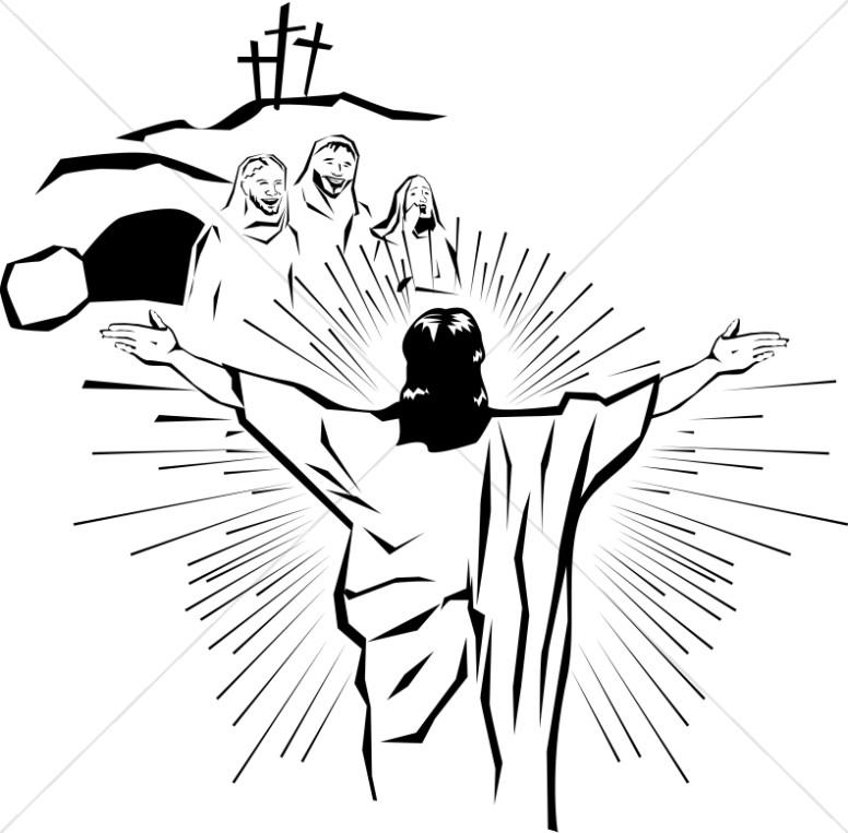 Christ clipart opened Easter Easter for Christian world