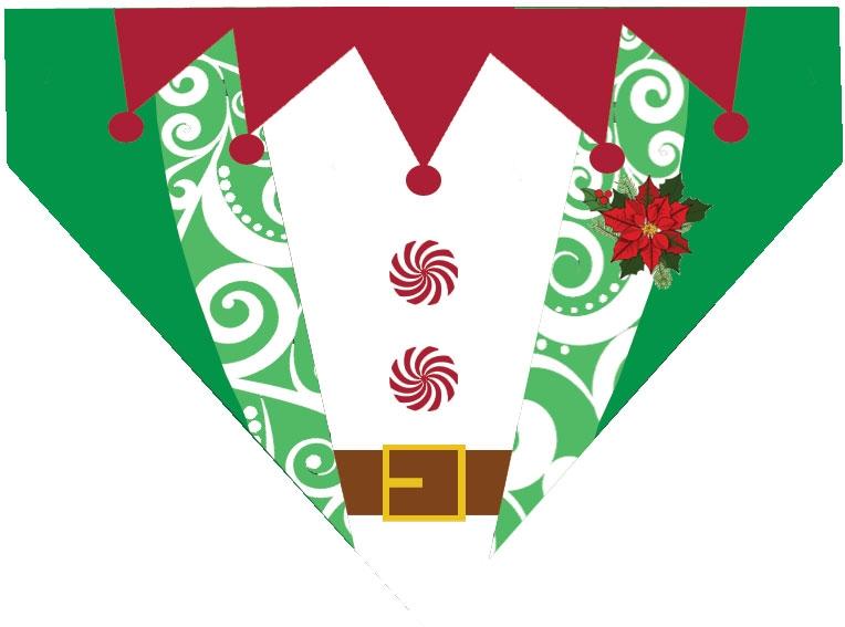 Elf clipart collar  Over Bandanna Collar Elf