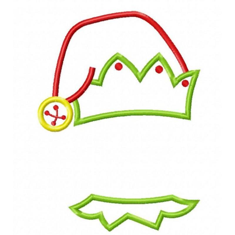 Elf clipart collar  Hat Applique Boy Design