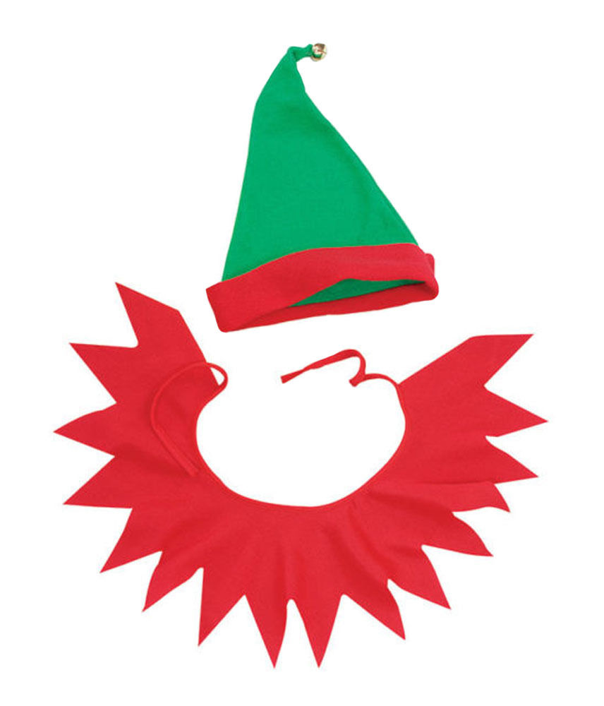 Elf clipart collar Helper Christmas Hat Fancy eBay